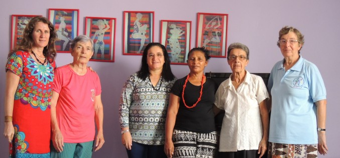 Visita de Ir. Rosa Ilma Lobato, conselheira do setor de Pastoral.