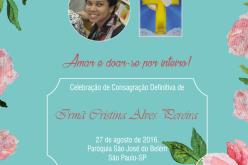 Consagração Definitiva da Irmã Cristina Alves Pereira